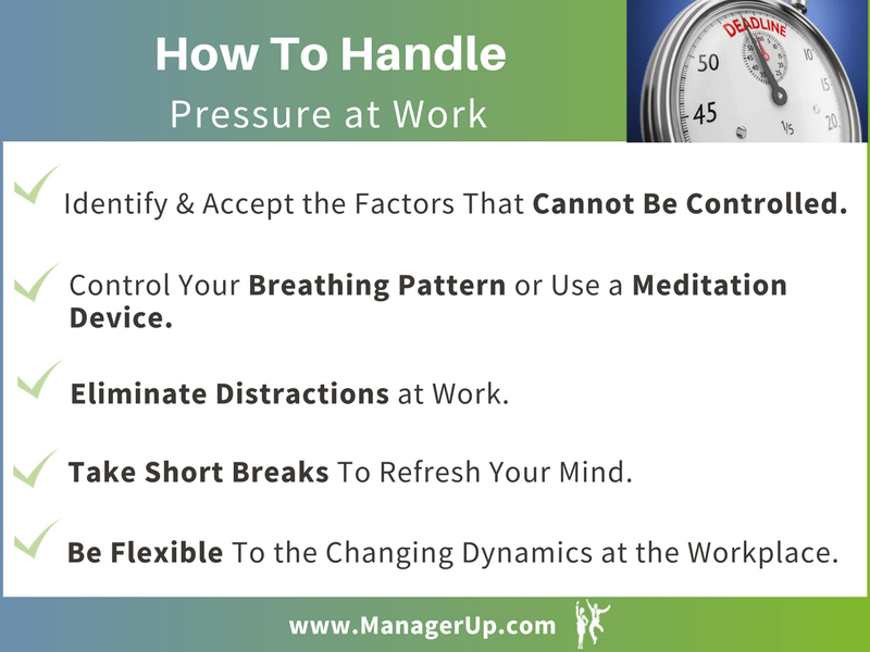 how to handle pressure at work