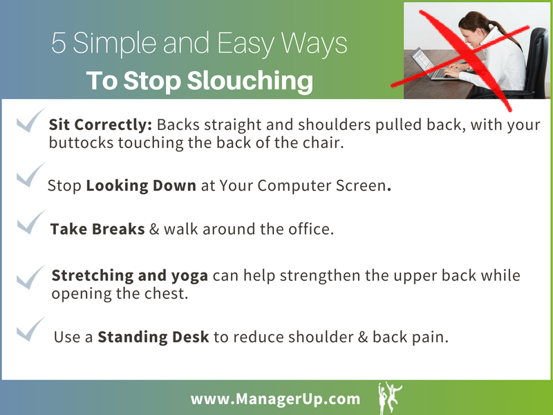how to stop slouching